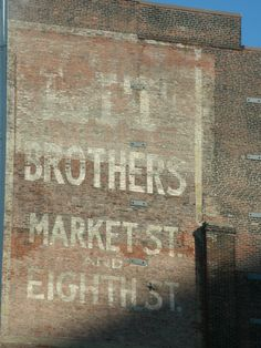 A faded advertisement on the side of a building that used to house the Lit Brothers Department Store (1893-1977), formerly located at 8th and Market Streets in the heart of Center City (what us locals call the downtown area).