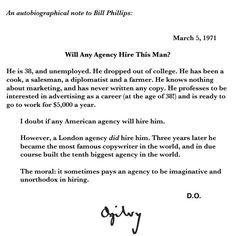 David Ogilvy Wrote This Memo To The Board  Years Ago He Titled