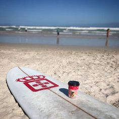 An early morning surf, but first coffee. #VidaeCaffè #NoPassionNoPoint
