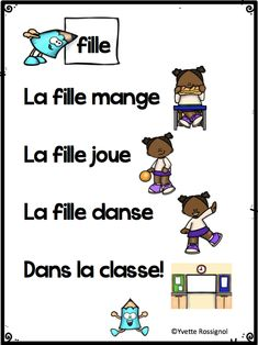 25 adorable French poems with sight words, perfect for practicing reading strategies in Primary French Immersion! 25 adorable French poems with sight words, perfect for practicing reading strategies in Primary French Immersion! French Teaching Resources, Teaching French, Teaching Spanish, Teaching Reading, French Lessons, Spanish Lessons, Communication Orale, Simple Poems, French Poems