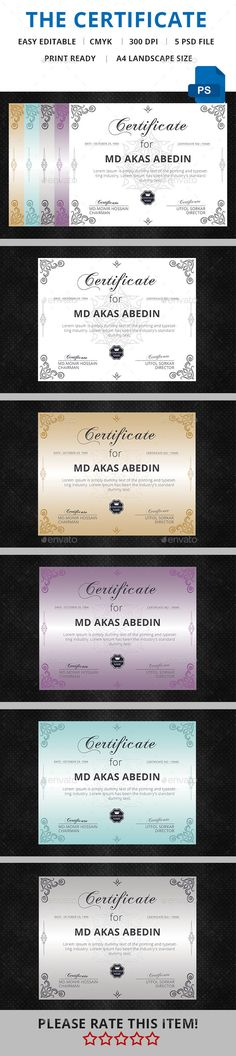 Multipurpose Certificate  Certificate Template Psd Download Here