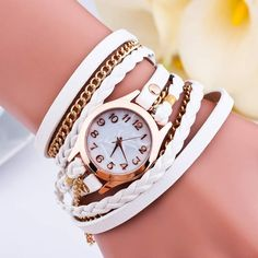 Get it now Cheap Watches, Stylish Watches, Women's Watches, Ladies Bracelet Watch, Diesel Watch, Rope Jewelry, Leather Dresses, Wholesale Fashion, Leather Cord