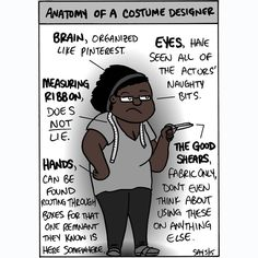 Anatomy of a Costume Designer. #tdfcc #costumes #broadway