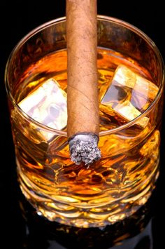 Good cigar & scotch
