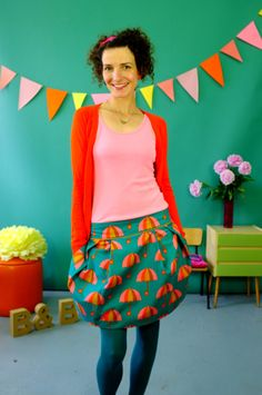 Umbrella skirt. And love the tights too.