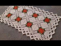 Crochet Bedspread Pattern, Crochet Flower Patterns, Crochet Motif, Crochet Doilies, Crochet Flowers, Free Crochet, Granny Square Pattern Free, Crochet Squares, Crochet Table Mat