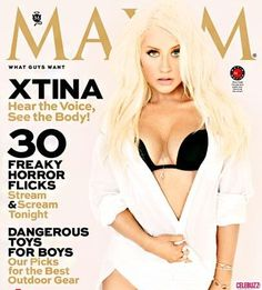 Christina Aguilera Strips Down To Her Bra For Maxim - http://celeboftea.com/christina-aguilera-strips-down-to-her-bra-for-maxim/