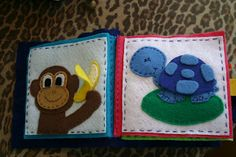 ideas for mini quiet book--Monkey quiet book page and turtle quiet book page