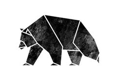 New tattoo geometric bear wall art ideas Geometric Bear, Geometric Origami, Origami Cat, Stencil, Composition Art, Bear Drawing, Wall Decals, Wall Art, Butterfly Drawing