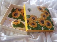 *Katita Artes*: Kit - Caixa MDF + Toalha de Mão + Sabonete