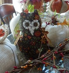Let's Add Sprinkles: The Owls Have It (Fabric Owl Tutorial)