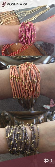 Bracelets/Neckless The Leakey Collection set of 5 single strands The Leakey Collection Accessories