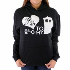 Doctor Who Key to My Tardis Hoodie. A great gift for that special Doctor Who fan in your life (or to that special person who knows you love Doctor Who). http://aftcra.com/mixedtees/listing/1915/doctor-who-key-to-my-tardis-hoodie