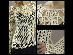 tutorial jersey sweater crochet facil para todas las tallas ( subititles in several lenguage) - YouTube
