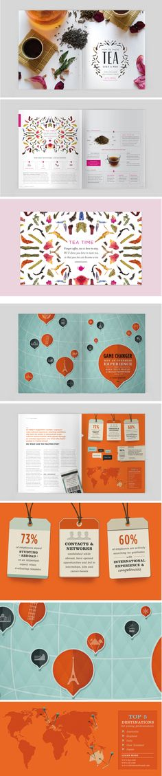 Various editorial designs made for the annual SPD Student 2013 brief