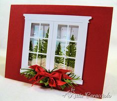 Smowy Christmas Window by kittie747 - Cards and Paper Crafts at Splitcoaststampers