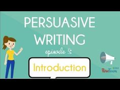 Persuasive Writing for Kids: What is It? Episode What does it mean to persuade or convince someone of my opinion? Who can I persuade? Watch this video to find out the basics of persuasive writing! What Is Persuasive Writing, Persuasive Letter, Persuasive Essays, Opinion Writing, Essay Writing, Argumentative Writing, Informational Writing, Writing Prompts, Opinion Essay
