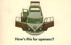 DDB, advertising postcard for Volkswagen of America, VW Transporter,1960s