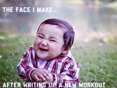 Face I make when writing up a new workout! www.lindseyallenfitness.co.uk.