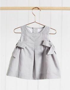 Neck & Neck Children's Fashion, Baby Dress, Beige Urban Baby Dress, Trendy Baby