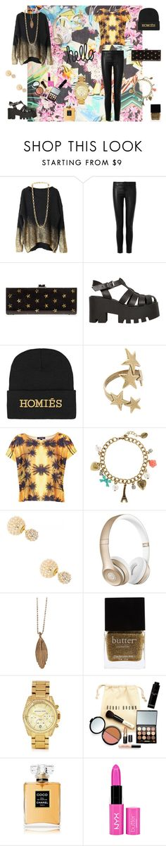 """Pray To God"" by wild-young-free-thrilled ❤ liked on Polyvore featuring Mary Katrantzou, J Brand, Edie Parker, Windsor Smith, Brian Lichtenberg, Avant Garde Paris, Workshop, claire's, Natasha Accessories and Beats by Dr. Dre"