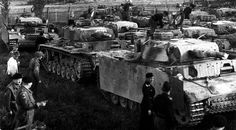 """The surrender of the German Panzer brigade """"Norway"""" to the British in Trandum,Norway in may 1945, Tanks of the Pz.Kpfw. III. Brigade as an independent unit did not participate in the fighting during the war."""