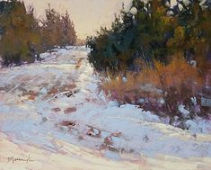 Barbara Jaenicke - Well-travelled Back Road- Pastel - Painting entry - February 2020 Pastel Landscape, Landscape Artwork, Winter Landscape, Abstract Landscape, Soft Pastel Art, Pastel Artwork, Pastel Paintings, Winter Scene Paintings, Great Paintings