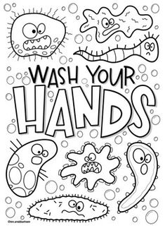 Wash your hands coloring page by Mrs Arnolds Art Room School Coloring Pages, Colouring Pages, Coloring Sheets, Hand Coloring, Adult Coloring, Coloring Books, Coloring Worksheets, Fairy Coloring, Kids Coloring