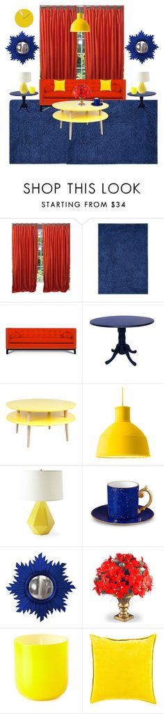 """""""Snow White's house"""" by sarah-michelle-steed ❤ liked on Polyvore featuring Signature Design by Ashley, Jonathan Adler, INC International Concepts, Muuto, Serena & Lily, L'Objet, Home Decorators Collection, National Tree Company and Surya"""