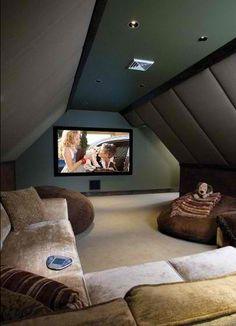 movie room in the attic