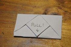 There are so many creative ways to share a note on folded paper. Learn how to fold this version of a pull tab note.