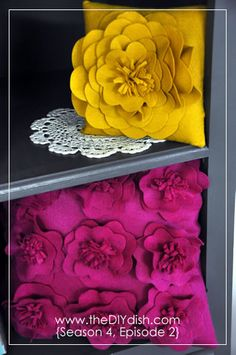 Flower decor to add to your home.  DIY - all the way!