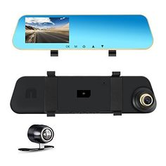 From 29.99 Dual Lens Dash Cam Car Dashboard Camera Rear View Mirror Front And Rear Funanasun 1080p Full Hd Video Car Driving Recorder Dvr With G-sensor Loop Recording Parking Mode Motion Detection 4.3 Inch 140 Wide View Sight