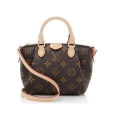 Rental Louis Vuitton Monogram Canvas Nano Turenne Shoulder Bag ($150) ❤ liked on Polyvore