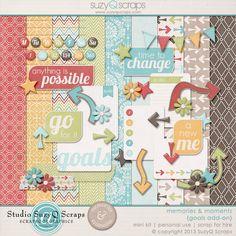 goals digital scrapbook mini kit