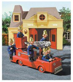 Pugh, Pugh, Barney McGrew, CUSTARD, Dibble and Grub!  The Trumpton Fire Brigade.  I was sure it was Custard not Cuthbert!