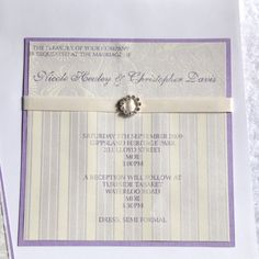 Square Flat Invite...ribbon and bling