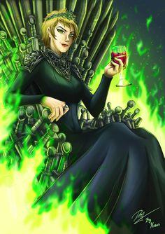 Cersei, Queen of the Seven Kingdoms by Kraus-Illustration.deviantart.com on @DeviantArt