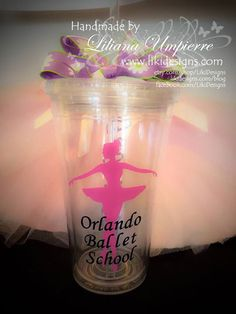 Personalized #balletdancer #tumbler by #LikiDesigns