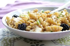 Blackberry Ginger Pasta Salad : Healthy Pasta Recipes