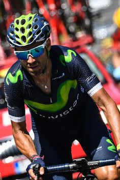 #TDF2016 Spain's Alejandro Valverde rides during the 1905 km sixth stage of the 103rd edition of the Tour de France cycling race on July 7 2016 between...