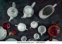 Empty kitchen dishware - stock photo