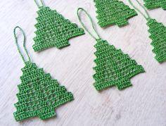 Сhristmas tree ornaments crocheted Christmas tree by NatkaLV, $15.00