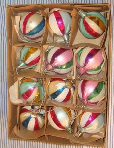 Vintage glass Christmas ornaments - I have some of these inherited from my mother-in-law (now deceased)...