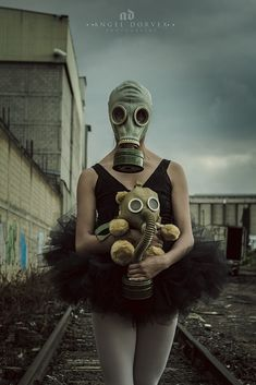 Last Dance by Angel Dorvex / Surrealism Photography, Dark Photography, Apocalypse, Gas Mask Girl, Look Wallpaper, Georges Braque, Last Dance, Masks Art, Chernobyl