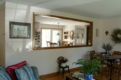 Pass through window - I've been begging for one of these for three years- hopefully it will happen this spring:) Kitchen Pass, Cozy Kitchen, Kitchen Redo, Kitchen Design, Home Design Diy, New Home Designs, Pass Through Window, Galley Kitchen Remodel, Craftsman Kitchen