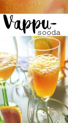 VAPPUSOODA | SPRING CELEBRATION SODA Soda, Alcoholic Drinks, Celebration, Wine, Spring, Recipes, Alcoholic Beverages, Soft Drink, Food Recipes