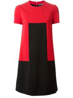 Alexander Mcqueen Colour Block Shift Dress - Satù - Farfetch.com