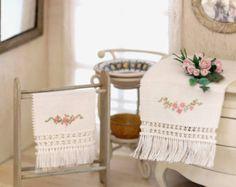 Juego de toallas en miniatura bordadas a mano por MINIATURAFR