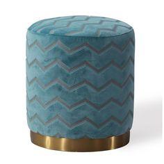 Tov Furniture Opal Ottoman Sky Morrocan